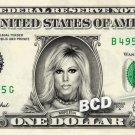 MARLENA on a REAL Dollar Bill WWE Terri Lynne Boatright Runnels Cash Money