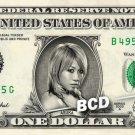 ASUKA on REAL Dollar Bill WWE Cash Money Memorabilia Collectible Celebrity Bank