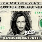 ALANIS MORISSETTE on a REAL Dollar Bill Cash Money Memorabilia Collectible Bank