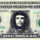 CHE GUEVARA on a REAL Dollar Bill Cash Money Memorabilia Collectible Celebrity
