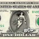 WONDER WOMAN on a REAL Dollar Bill Cash Money Memorabilia Collectible Celebrity