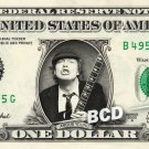 ANGUS YOUNG ACDC on REAL Dollar Bill Cash Money Bank Note Currency Dinero