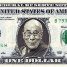 DALAI LAMA on REAL Dollar Bill Cash Money Memorabilia Collectible Celebrity Bank