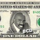 STEVE HARVEY on a REAL Dollar Bill Cash Money Memorabilia Collectible Celebrity