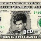 ADAM LAMBERT on a REAL Dollar Bill Cash Money Memorabilia Collectible Celebrity