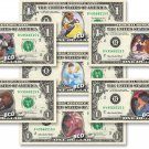 Disney ROMANCE COLLECTION ( 7 Bills ) on REAL Dollar Bill Cash Money Bank Note