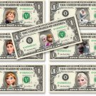 Disney FROZEN 7-set Collection on REAL DOLLAR BILL Money Cash Disney's Mint