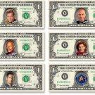STAR TREK Captain's 6-Pack on REAL Dollar Bills TOS TNG DS9 Voyager Money Cash