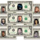 STAR TREK 9-set The Next Generation Collector Pack REAL DOLLAR Bill Cash Money