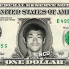 BRUCE LEE on REAL Dollar Bill Collectible Celebrity Cash Memorabilia Money Bank