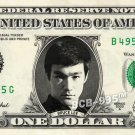 BRUCE LEE on a REAL Dollar Bill - Collectible Celebrity Cash Memorabilia Money