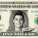 CRISTIANO RONALDO on REAL Dollar Bill Cash Money Collectible Celebrity Bank Note