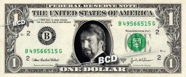 ALAN RICKMAN Hans Gruber on REAL Dollar Bill Cash Money Collectible Memorabilia