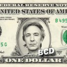 ALAN RICKMAN on a REAL Dollar Bill Cash Money Collectible Memorabilia Celebrity