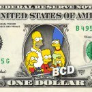 THE SIMPSONS on a REAL Dollar Bill Cash Money Collectible Memorabilia Celebrity