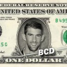 MICHAEL PHELPS Rio olympics Gold Medal - REAL Dollar Bill Cash Money Collectible