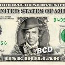GENE WILDER - REAL Dollar Bill Cash Money Collectible Celebrity Willy Wonka Bank