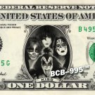 KISS on REAL Dollar Bill Cash Money Collectible Memorabilia Celebrity Bank Note