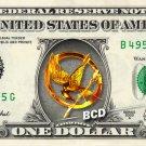 HUNGER GAMES Mockingjay Pin REAL Dollar Bill Cash Money Collectible Memorabilia