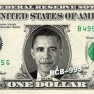 BARACK OBAMA on REAL Dollar Bill Cash Money Memorabilia Collectible Celebrity