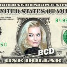 MARGOT ROBBIE on REAL Dollar Bill Cash Money Collectible Memorabilia Celebrity