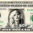 DEBBIE HARRY on REAL Dollar Bill Cash Money Bank Note Currency Dinero Celebrity