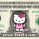 Hello Kitty on REAL Dollar Bill Collectible Cash Money