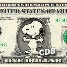 SNOOPY on a REAL Dollar Bill Cash Money Collectible Memorabilia Celebrity Bank