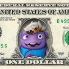 DREAMWORKS HOME on REAL Dollar Bill Money Cash Collectible Memorabilia Celebrity