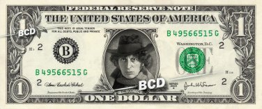 DOCTOR WHO The Fourth Doctor 1974-1981 - REAL Dollar Bill Cash Money Collectible