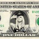 LADY GAGA on REAL Dollar Bill - Collectible Celebrity Custom Money Cash Art