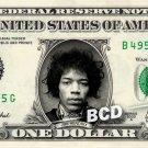 JIMI HENDRIX on a REAL Dollar Bill Cash Money Collectible Memorabilia Celebrity