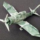 Zero Fighter Plane - Money Origami Dollar Bill Cash Sculptors Bank Note Handmade