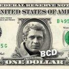 STEVE MCQUEEN on a REAL Dollar Bill Cash Money Collectible Memorabilia Celebrity