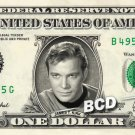 JAMES T KIRK William Shatner Star Trek TOS on REAL Dollar Bill Collectible Cash