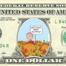 GREAT PUMPKIN Peanuts on a REAL Dollar Bill Cash Money Collectible Memorabilia