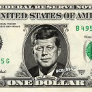 JOHN F KENNEDY on a REAL Dollar Bill JFK Cash Money Collectible Memorabilia Bank