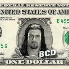 ROMAN REIGNS on REAL Dollar Bill WWE Wrestler Cash Money Memorabilia Celebrity Bank