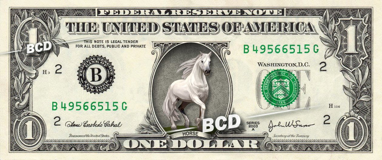 Beautiful HORSE on REAL Dollar Bill Cash Money Collectible Memorabilia Bank Note