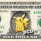 PIKACHU Pokemon Go on a REAL Dollar Bill Cash Money Collectible Memorabilia Bank