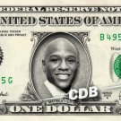 FLOYD MAYWEATHER on a REAL Dollar Bill Cash Money Collectible Memorabilia Celebrity Novelty