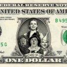 WIZARD OF OZ on a REAL Dollar Bill Cash Money Collectible Memorabilia Celebrity Novelty