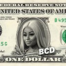 BLAC CHYNA on a REAL Dollar Bill Cash Money Collectible Memorabilia Celebrity Novelty Bank Note