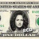 TEENA MARIE on a REAL Dollar Bill Cash Money Collectible Memorabilia Celebrity Novelty Bank Note