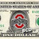 OHIO STATE BUCKEYES on a REAL Dollar Bill Cash Money Collectible Memorabilia Novelty Bank Note