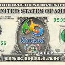 RIO Olympics 2016 on a REAL Dollar Bill Cash Money Collectible Memorabilia Novelty Bank Note