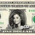 ARIANA GRANDE on a REAL Dollar Bill Money Collectible Cash Memorabilia Celebrity Novelty Bank