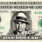 AL CAPONE on a REAL Dollar Bill Cash Money Collectible Memorabilia Celebrity Novelty Bank Note