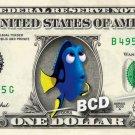 Dory on a REAL Dollar Bill Disney Cash Money Collectible Memorabilia Celebrity Novelty