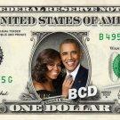 BARACK & MICHELLE OBAMA on a REAL Dollar Bill Cash Money Collectible Memorabilia Celebrity